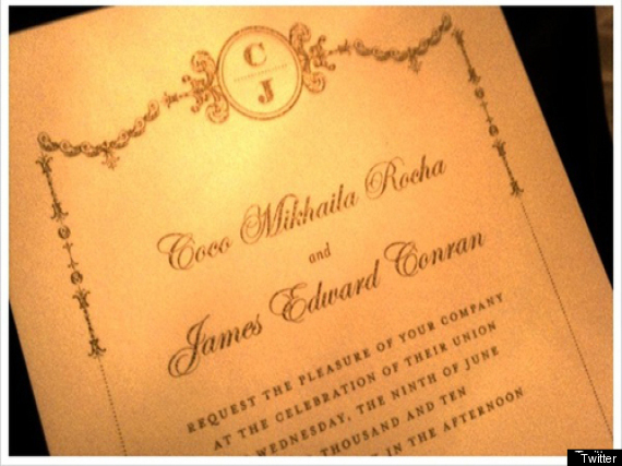 Coco Rocha Tweets Her Wedding Invitation Coco Rocha Wedding Invitation