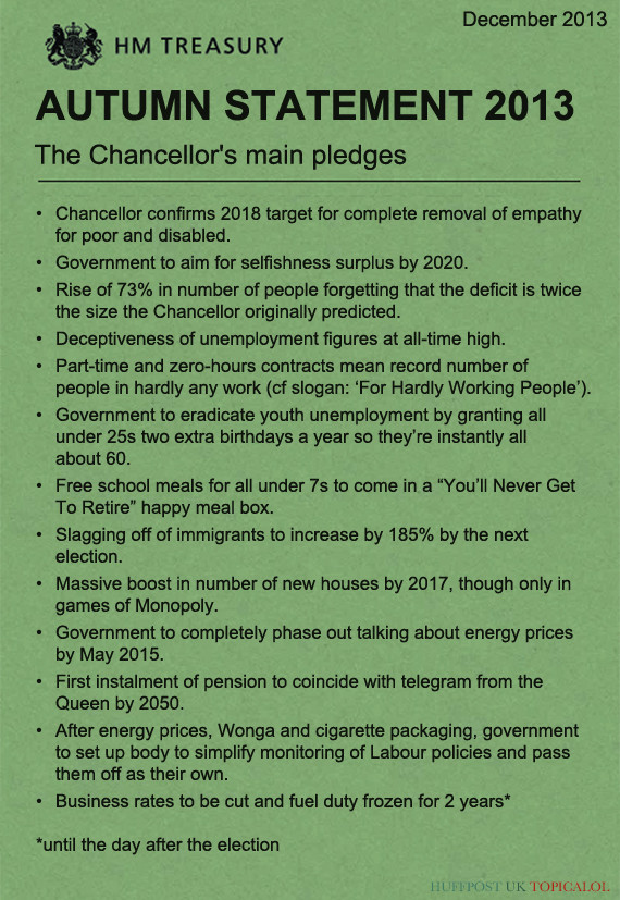 Autumn Statement: George Osborne's Main Pledges