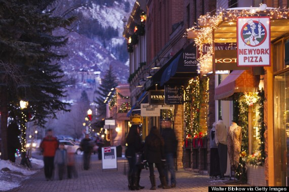 aspen town winter