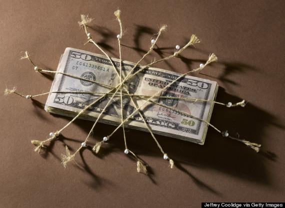 money on string