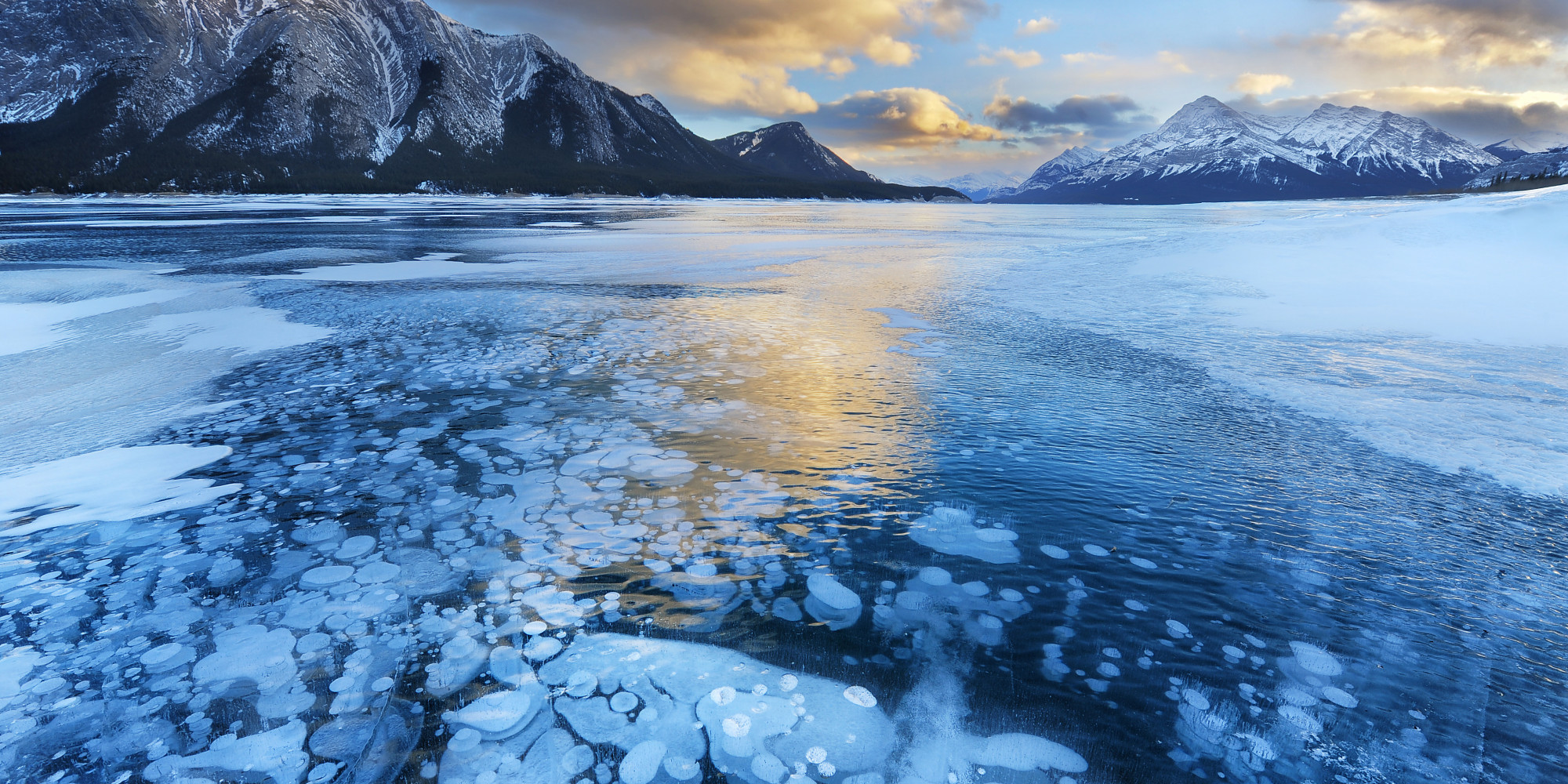 Abraham Lake In Winter Is Gorgeous.. And Explosive (PHOTOS)