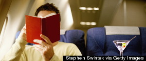 READING BOOK AIRPLANE