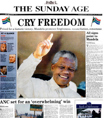 nelson mandela newspaper