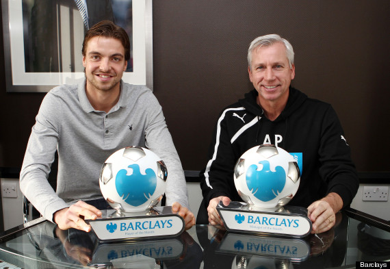 tim krul alan pardew player manager of the month