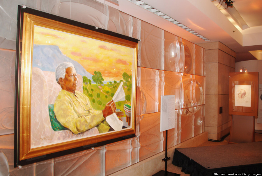 nelson mandela art tribute