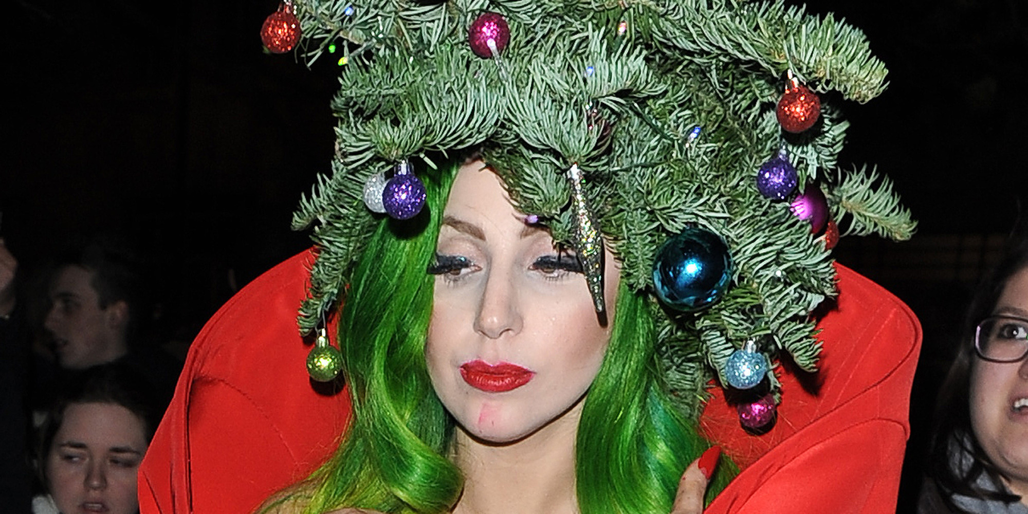 Lady Gaga Dresses Up As A Christmas Tree After Capital FM ...