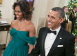 Michelle Obama Wows In Green Gown At Kennedy Center Honors (PHOTOS)