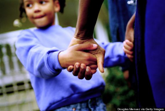 black holding hands