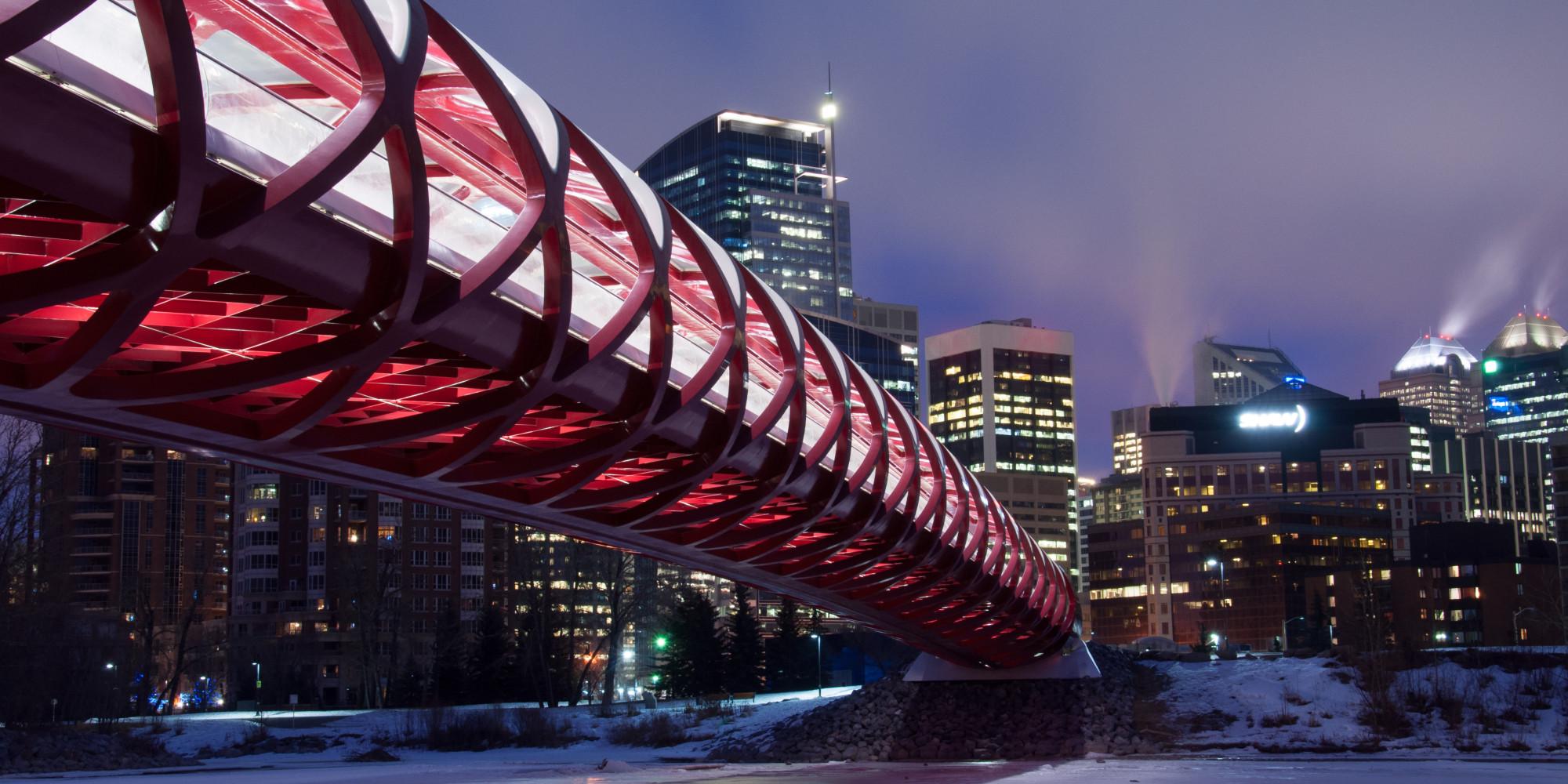Calgary Peace Bridge Made Of Candy On Display At City Hall