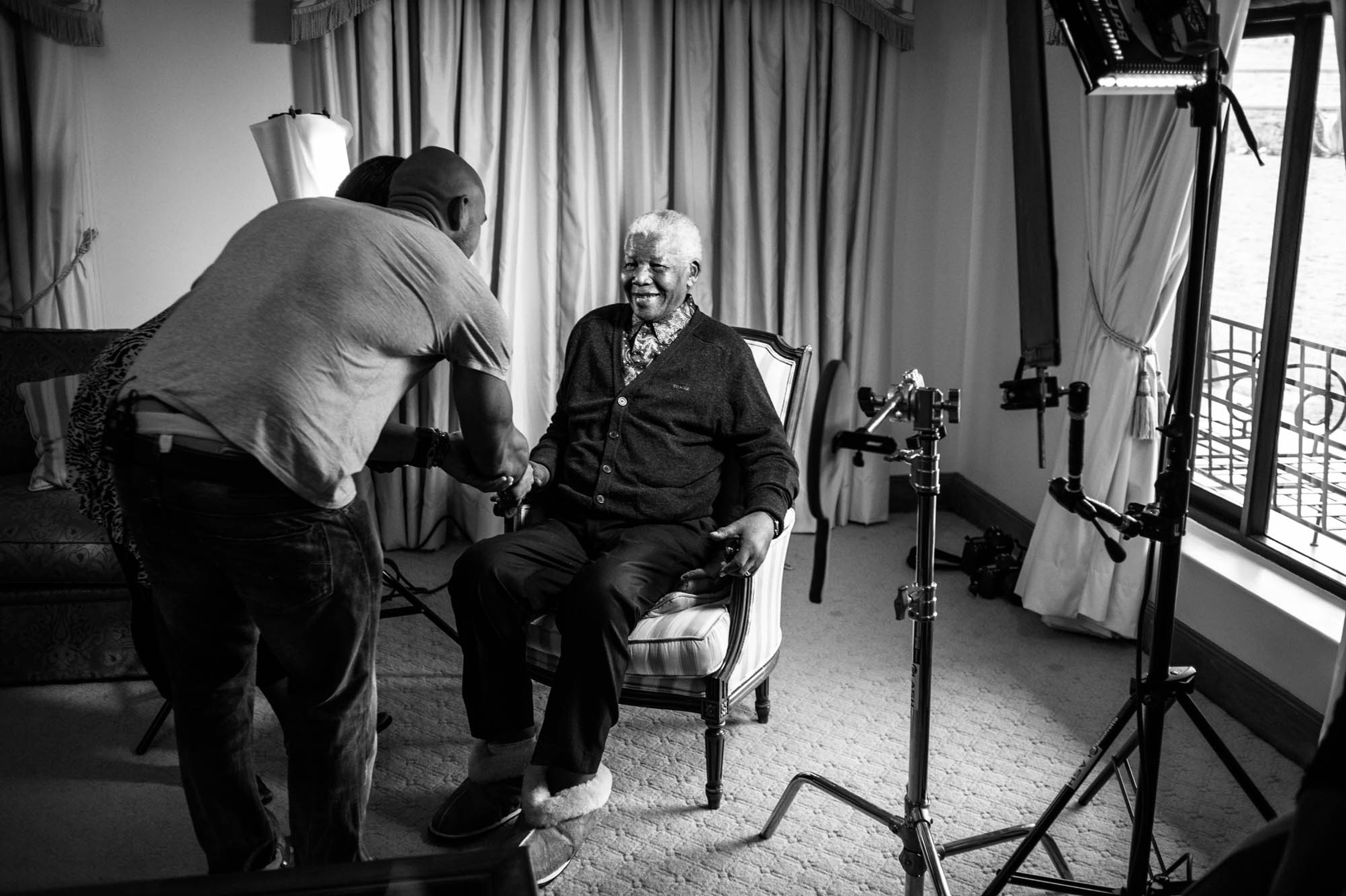 mandela photo shoot