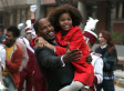 Jamie Foxx, Quvenzhané Wallis And 'Annie' Cast Perform In The Streets Of Harlem (VIDEO)