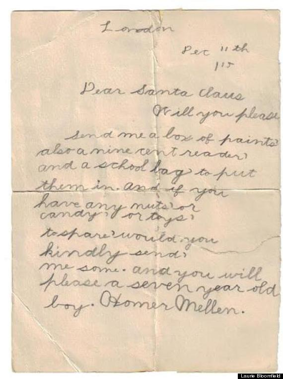 1915 Santa Letter 98 Year Old Letter To Santa Is Sweetly
