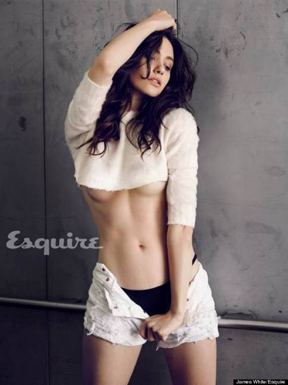 English: Emmy Rossum Bikini January 2014 issue Esquire Magazine