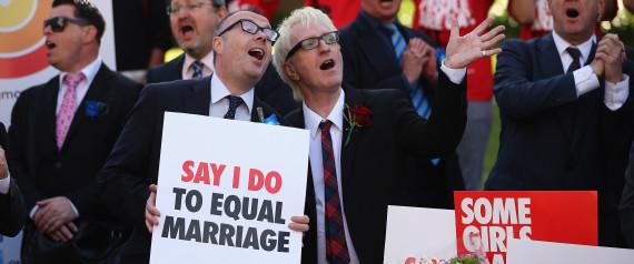 UK FIRST GAY WEDDINGS