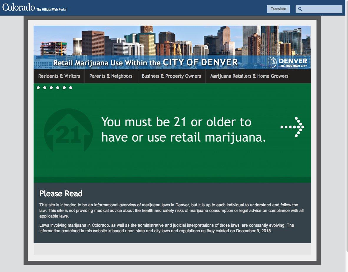 marijuana website denver