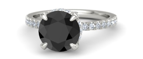 Black Diamond Engagement Rings: Unique Coloured Rings For ...