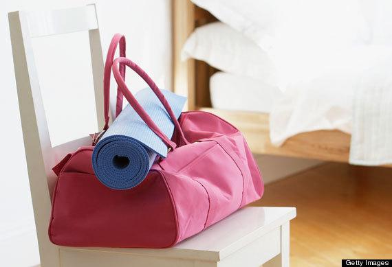 gym bag yoga mat