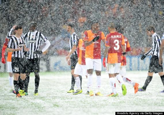galatasaray juventus snowfall