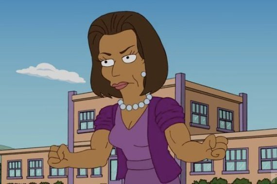 Michelle Obama Simpsons