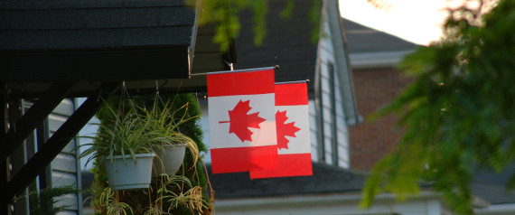 CANADIAN FLAG ON HOUSE