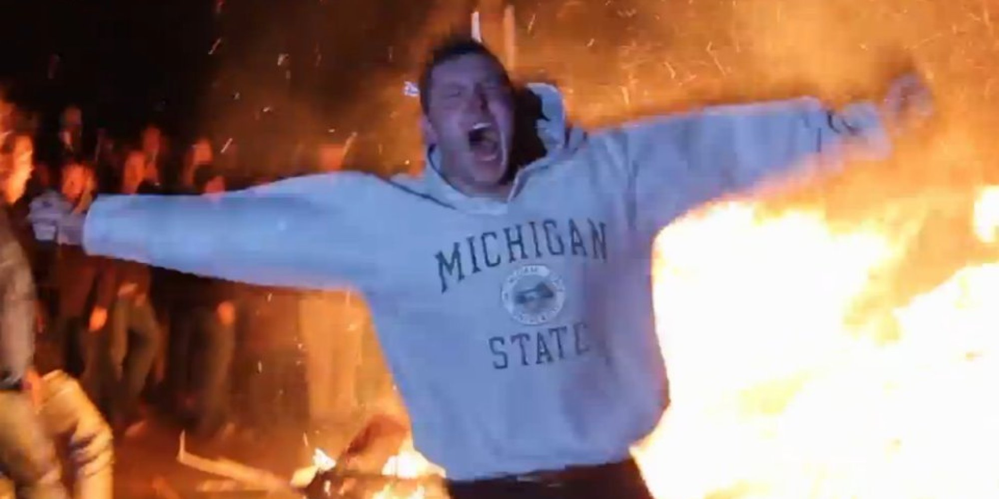 Image result for msu burning couches