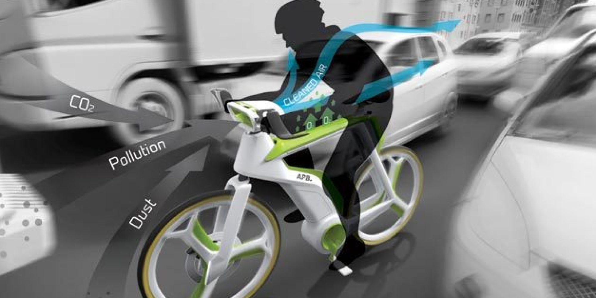 This Bike Not Only Stops You From Making Pollution It