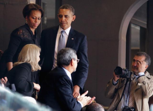 barack obama michelle obama nelson mandela