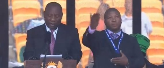 mandela sign language