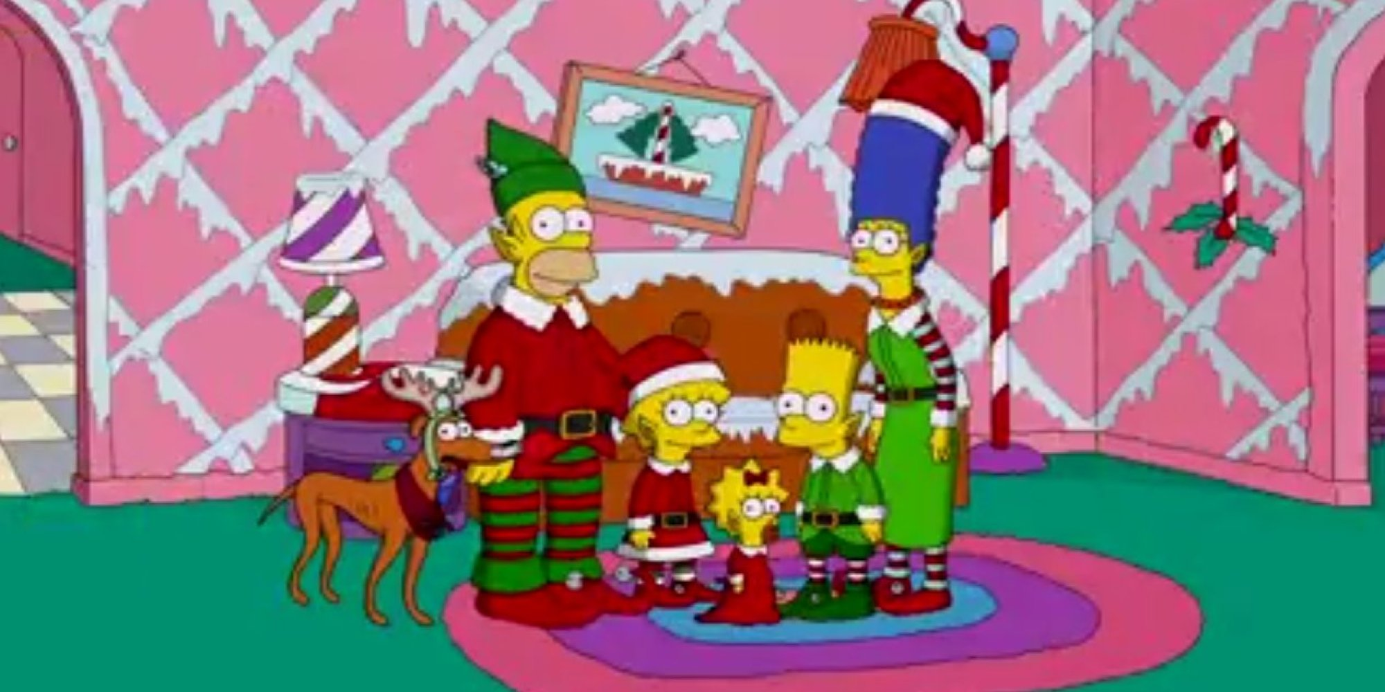 Watch The Simpsons Christmas Episode Opener