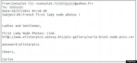 carla bruni hacking scam