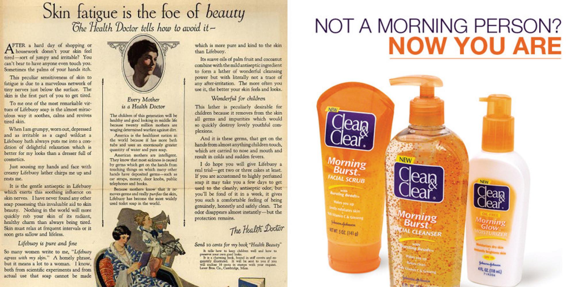 ads beauty still promises makeup same skincare huffpost