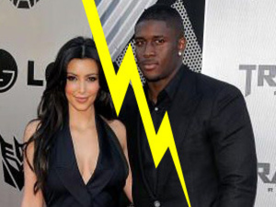 Kim Kardashian Reggie Bush Split Break Up Over