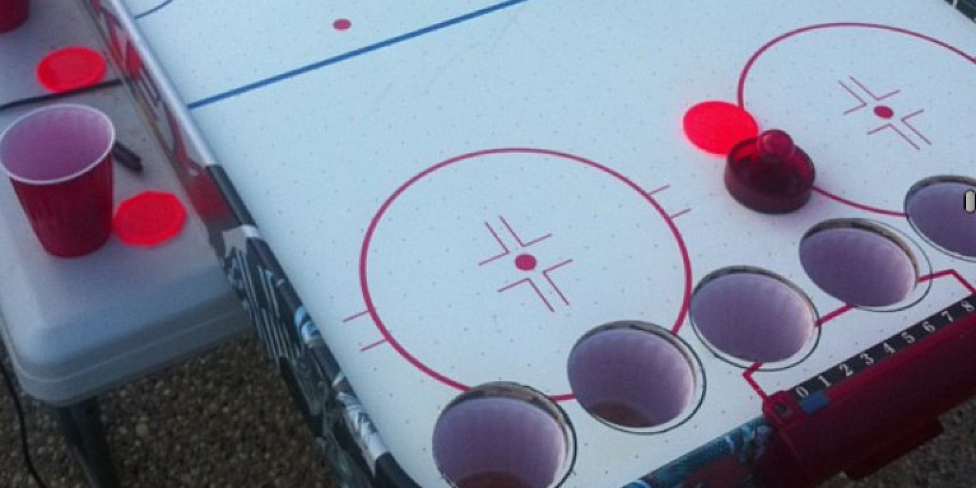 Hockey beer pong table - Beer Pong Air Hockey Hybrid Might Be The Most Canadian Party Game Ever