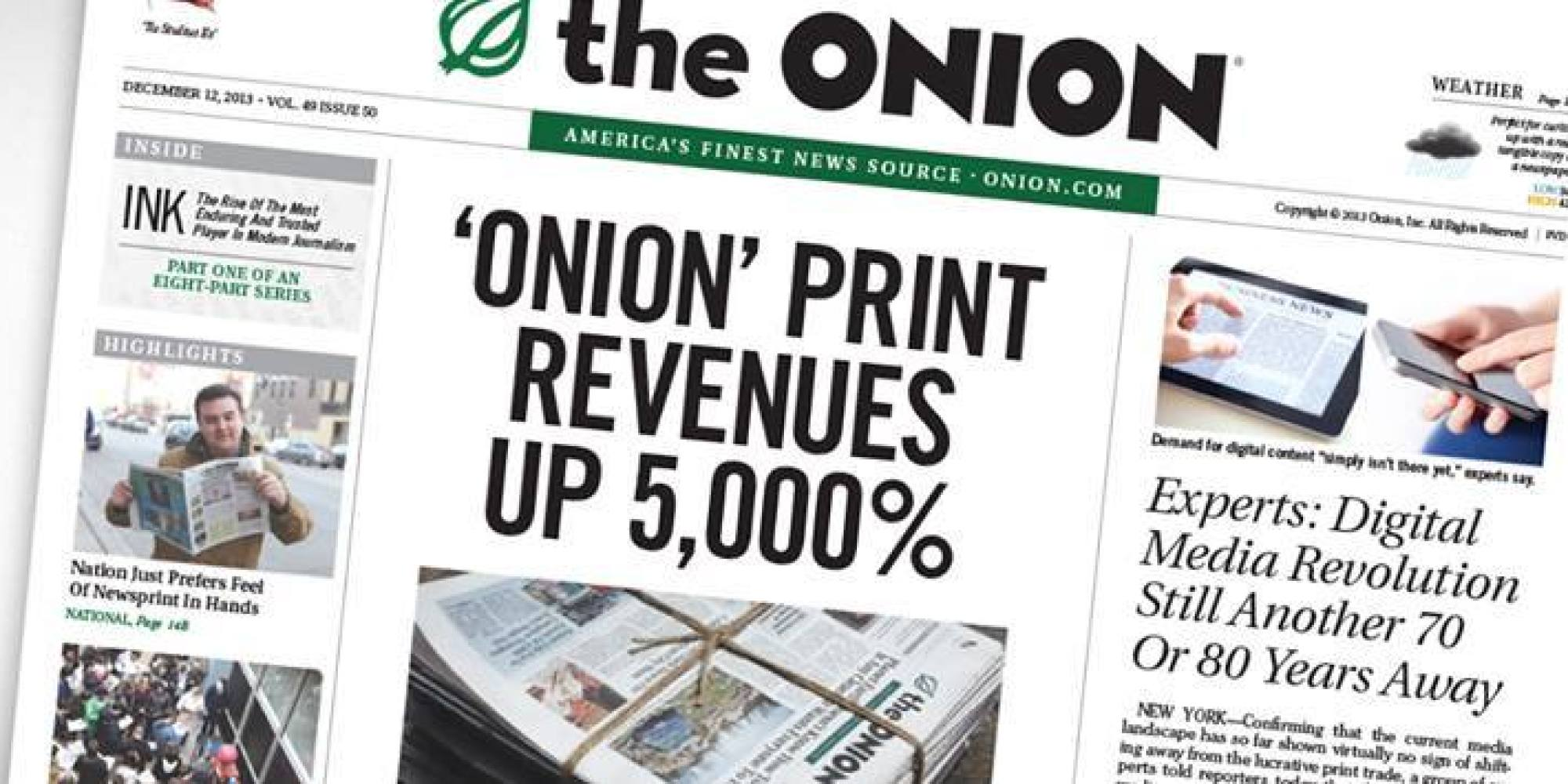 Satire Essay from The Onion