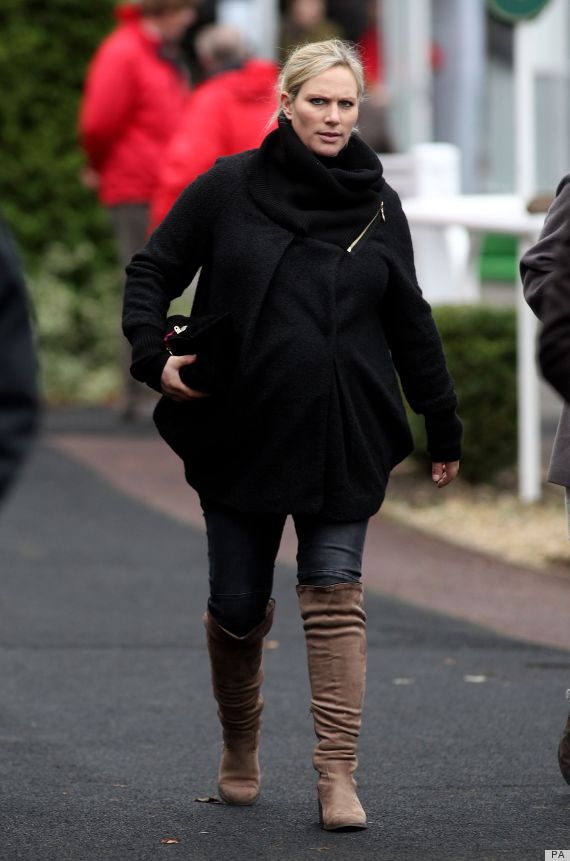 a8d5363ba37 Zara Phillips Rocks Over-The-Knee Boots At 8 Months Pregnant (PHOTOS ...