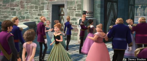 Elsa eats candies originally featured in the video game Sugar Rush ...