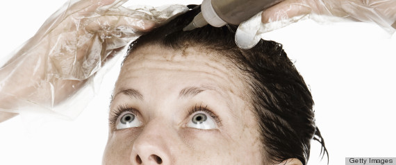 woman dying hair
