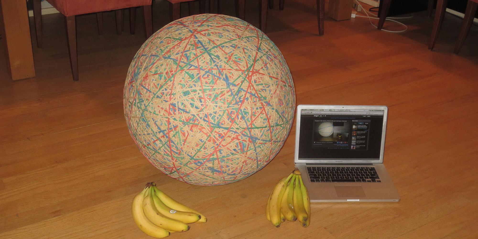 Giant Rubber Ball By Reddit User Zack Hample Took 32