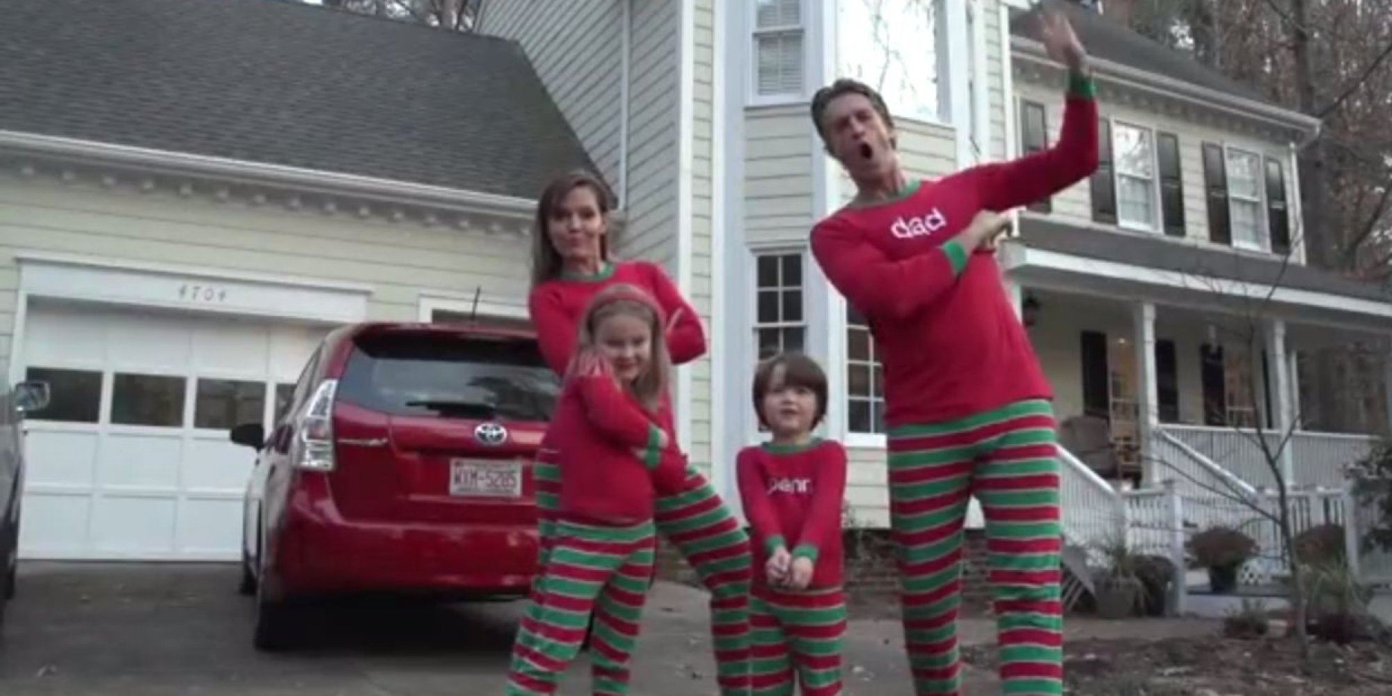 WATCH: Wacky Christmas Card Video Goes Viral