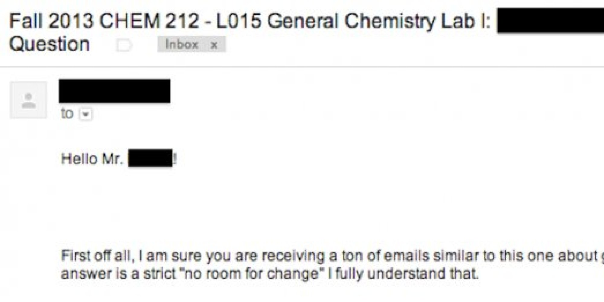 How to write an email to a professor when sick