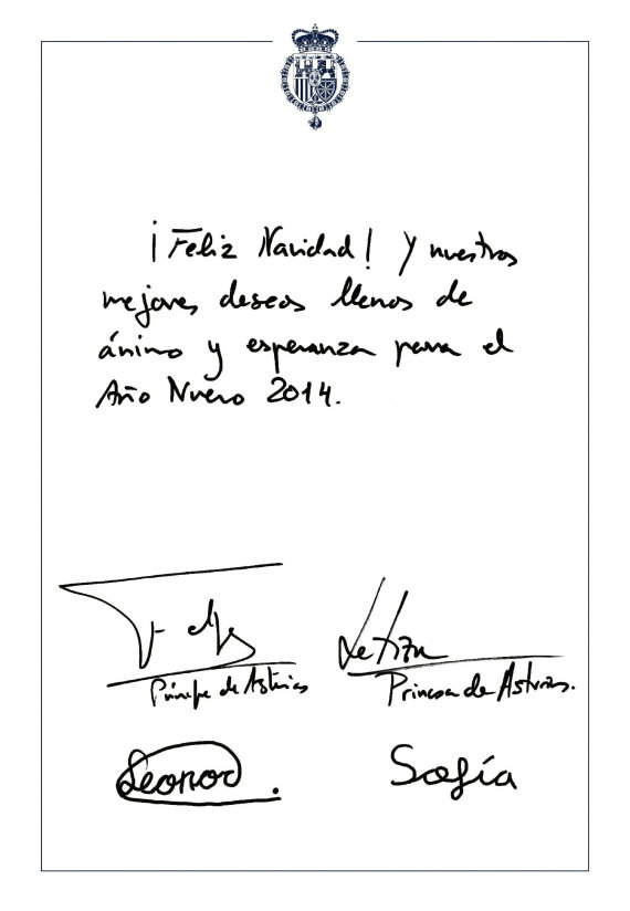 felicitacion familia real