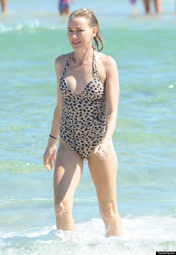 naomi watts rocks swimsuit while relaxing on bondi beach in sydney