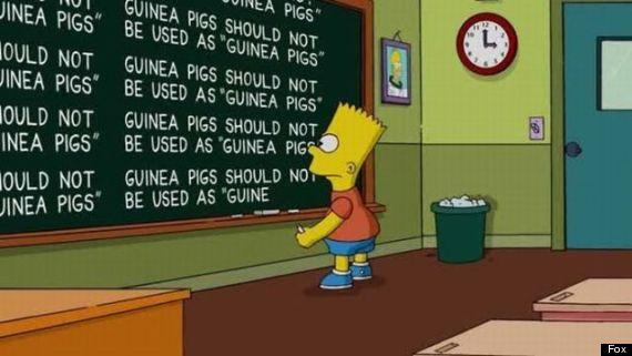 bart simpson chalkboard