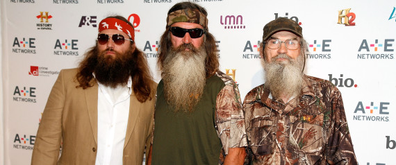 Phil Robertson's anti-gay comments are receiving backlash from the LGBT community. (L-R) Willie Robertson, Phil Robertson and Si Robertson attend the A+E Networks 2012 on May 9, 2012. (Andy Kropa/WireImage) | Andy Kropa via Getty Images