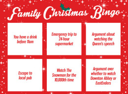Family Christmas Bingo Card