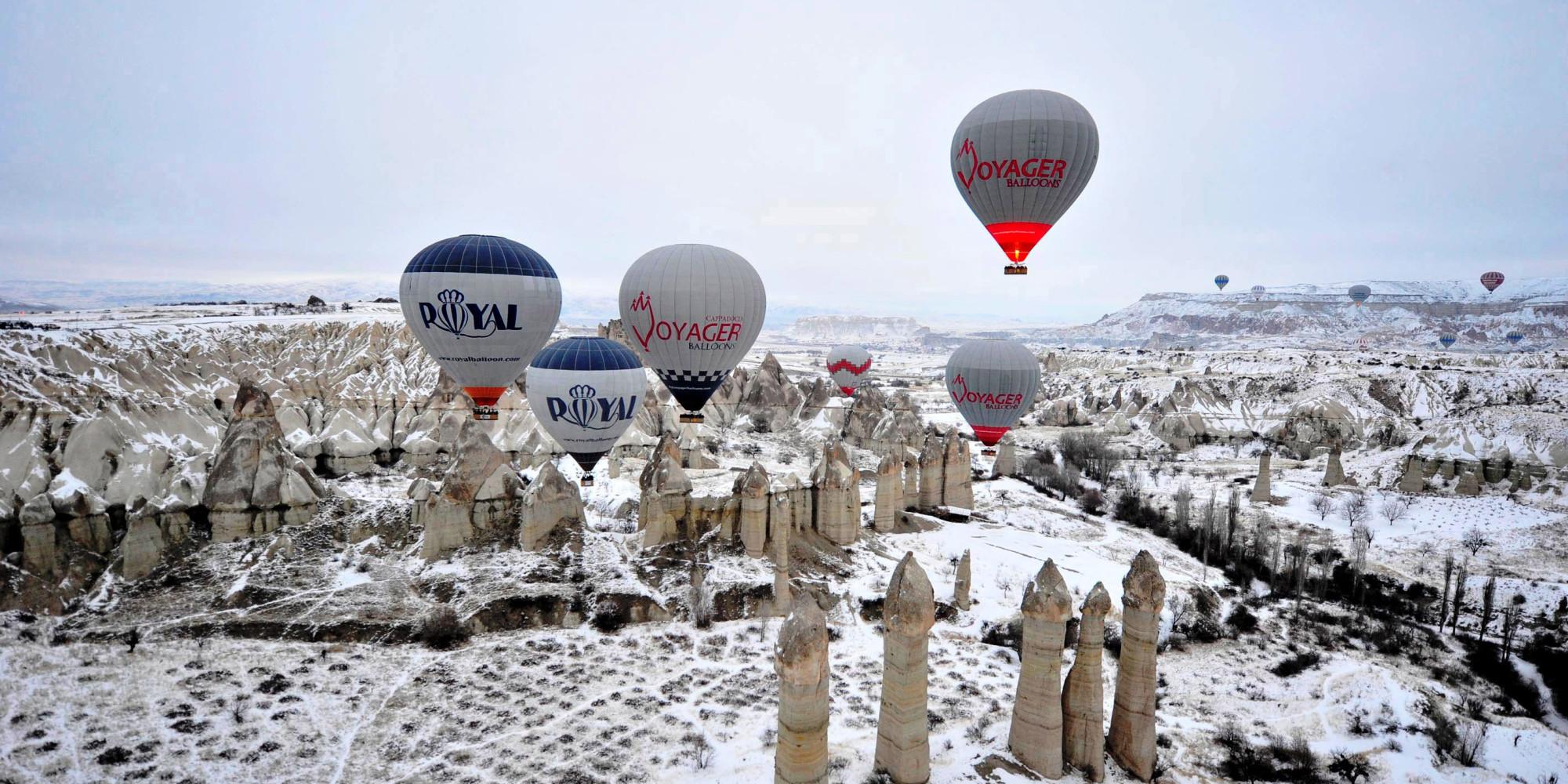 Hot Air Balloon In Cappadocia Turkey On This Travel