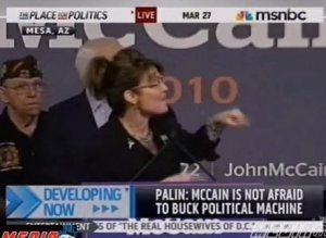 Palin Heckled