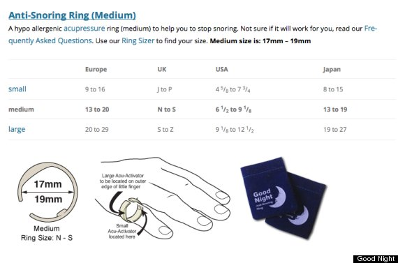 Snore Ring Instructions