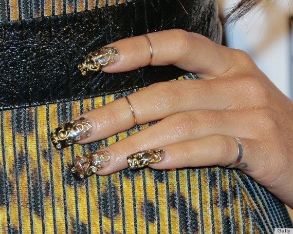 Whatever you do in 2014 do not try these trends huffpost french tips are one of the most classic nail designs however piling on a bunch of tacky studs jewels and other accoutrements just makes this manicure prinsesfo Choice Image