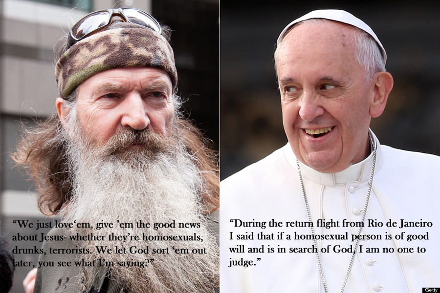 Phil Robertson Vs Pope Francis On Gays HuffPost Unique Pope Francis Quotes On Love
